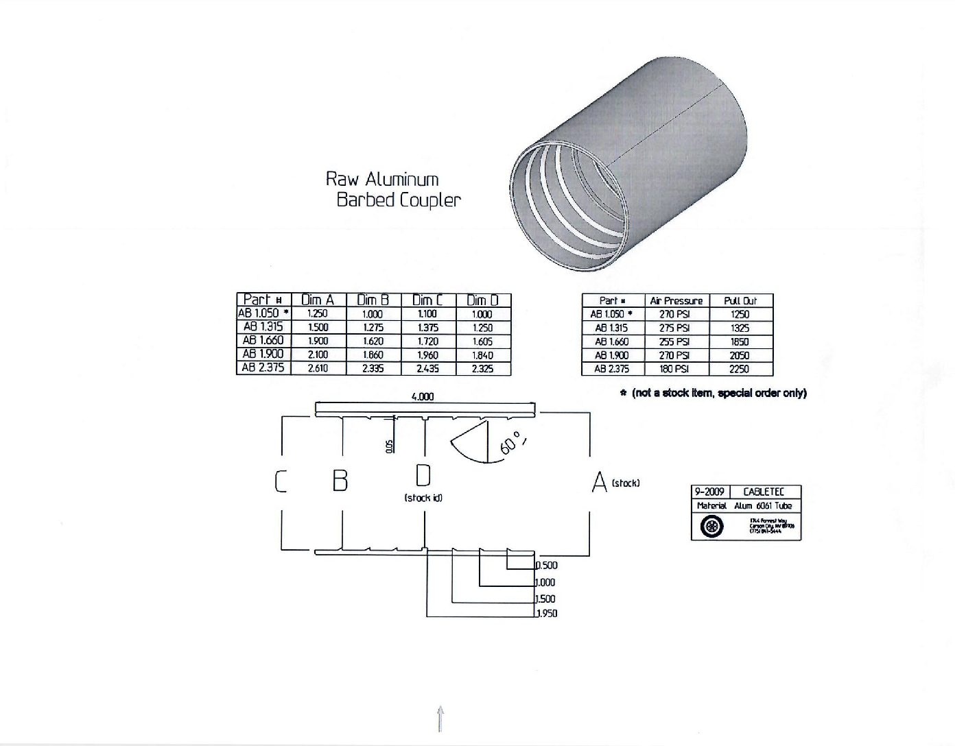(AB1.660) 1.25″ Press On Barbed – Aluminum Coupler-chart
